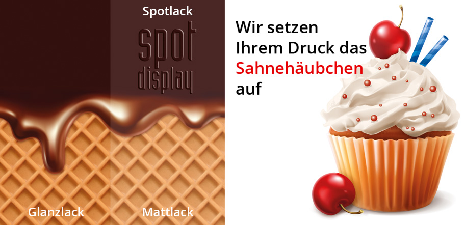 [Translate to en:] spot displays Digitaldruck