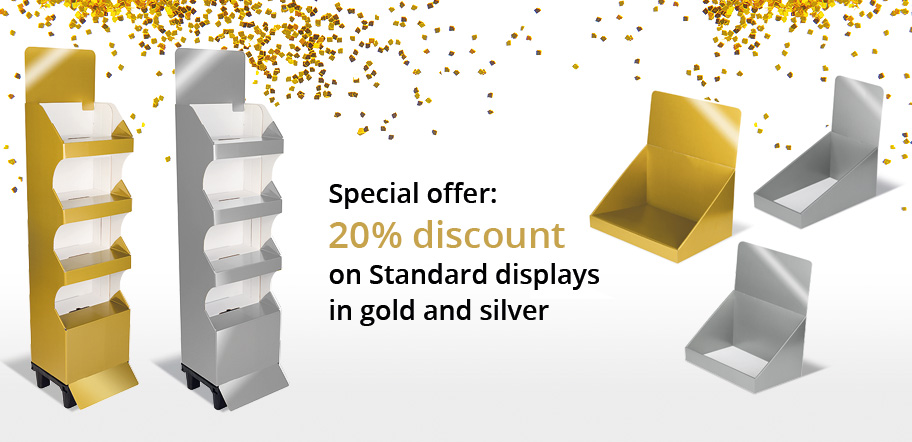 standard displays gold silver
